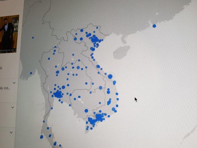 Bản đồ Live trên Facebook đã không còn Tam Sa