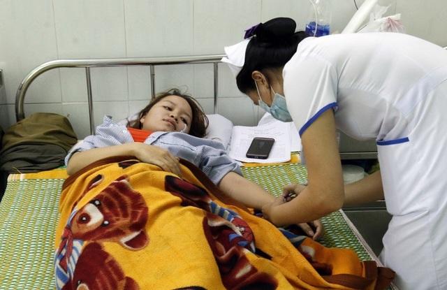 Cô Mai đang điều trị ở Bệnh viện Đa khoa Đà Nẵng