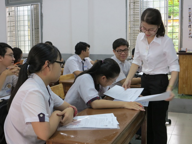 Học sinh lớp 12 tại TPHCM trong kỳ thi THPT quốc gia năm 2018