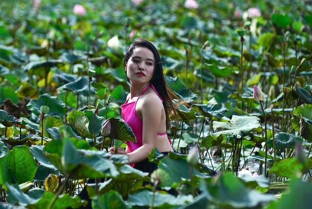 """Giới trẻ Sài Gòn đổ xô """"check in"""" đầm sen đẹp ngỡ ngàng - 14"""