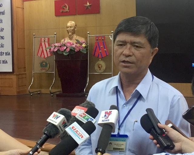 Phó giám đốc Sở GD-ĐT TPHCM Nguyễn Văn Hiếu phát biểu tại buổi công bố điểm chuẩn lớp 10 công lập của TPHCM