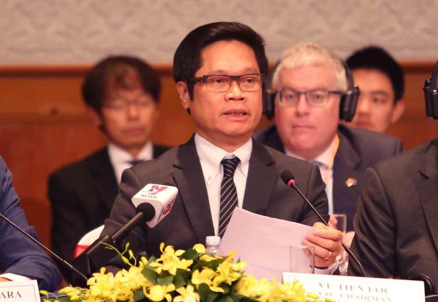 Ông Vũ Tiến Lộc - Chủ tịch Phòng Thương mại và Công nghiệp Việt Nam (VCCI), đồng Chủ tịch VBF.