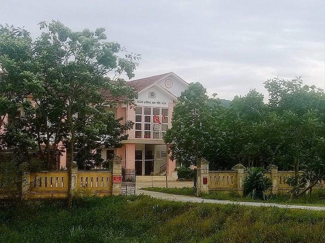 Đồn Công an Tiến Hoá, Công an huyện Tuyên Hoá, nơi công tác của ông Đinh Văn Long trước khi bị bắt tạm giam