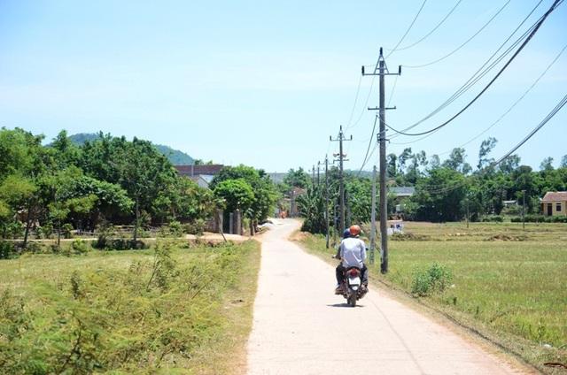 Một góc làng quê ở Cự Nẫm sau khi xây dựng nông thôn mới