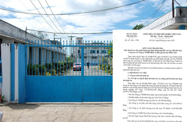 Thanh tra Bộ Tư pháp chỉ rõ nhiều vi phạm nghiêm trọng trong đấu giá tài sản của Công ty CP Dệt Long An.