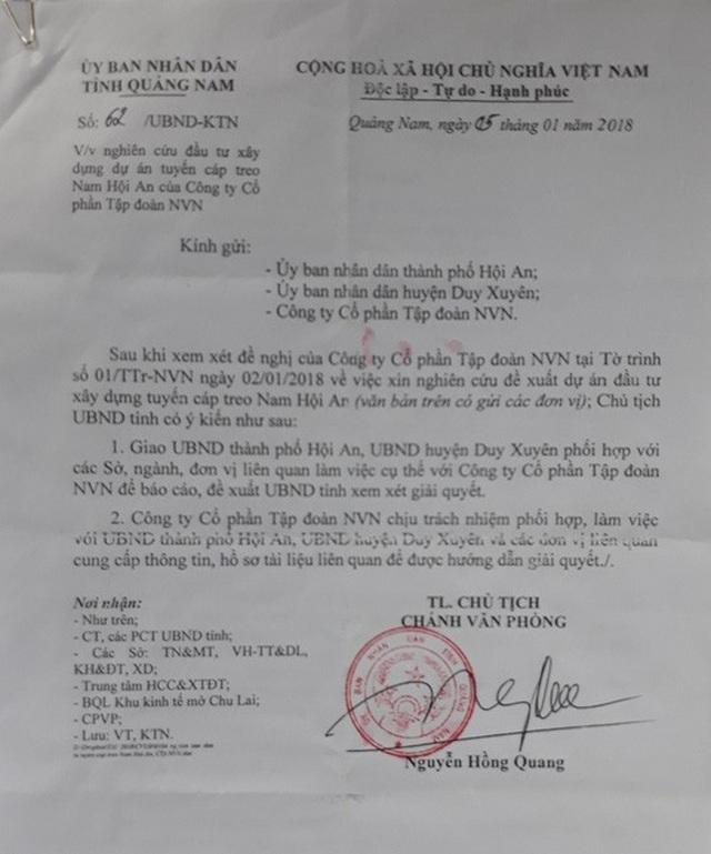UBND tỉnh Quảng Nam yêu cầu Hội An và Duy Xuyên báo cáo, đề xuất UBND tỉnh xem xét