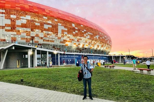 Phía bên ngoài sân vận động Mordovia Arena trước trận Iran gặp Bồ Đào Nha