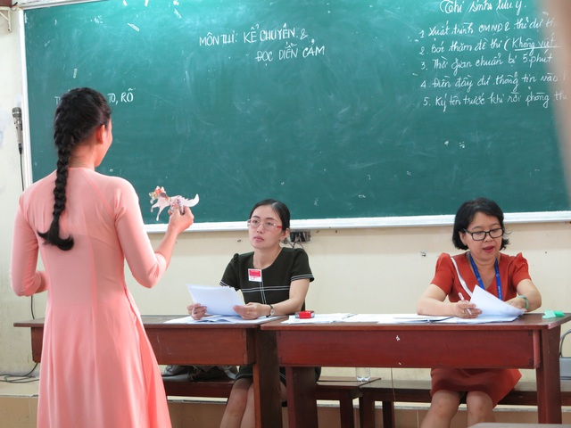 Thí sinh thi năng khiếu vào trường ĐH Sài Gòn