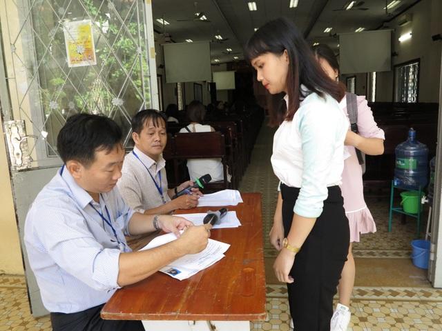 Thí sinh dự thi năng khiếu để xét tuyển vào ĐH Sài Gòn trong năm nay