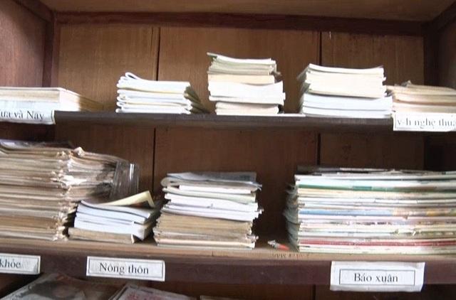 Đến nay, thư viện sách của làng Quảng Xá đã có hơn 4.000 đầu sách phục vụ người dân.