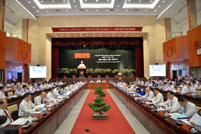 Hội nghị dành nhiều thời gian để thảo luận về việc thực hiện 7 chương trình đột phá của TPHCM