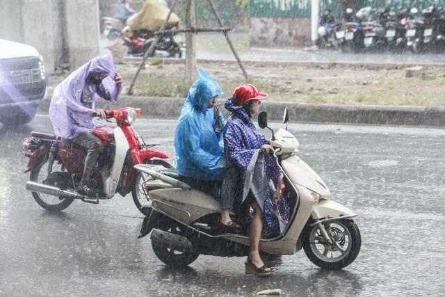 Cơn mưa rào kéo dài khoảng 45 phút, đập tan cái nóng oi bức của mùa hè tại Thủ đô.