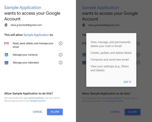 Google cung cấp các công cụ kiểm soát dữ liệu cho người dùng