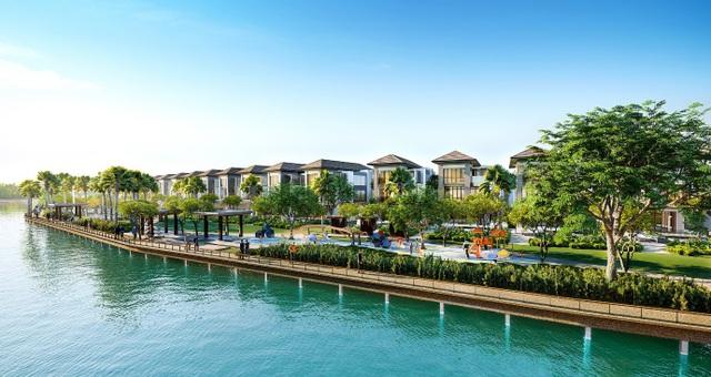 Sở hữu thiết kế thông minh, tất cả các căn biệt thự đều được sắp xếp hướng trực diện ra sông.