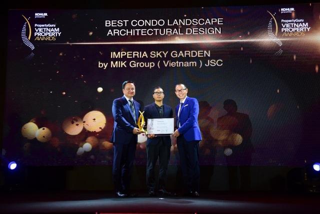 Imperia Sky Garden được vinh danh là Dự án có thiết kế cảnh quan xuất sắc nhất - Best Condo Landscape Architectural Design.