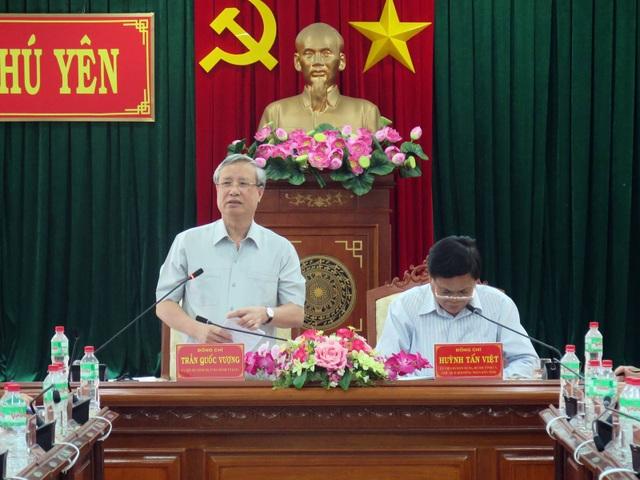 Thường trực Ban Bí thư, ông Trần Quốc Vượng phát biểu, chỉ đạo tại buổi làm việc