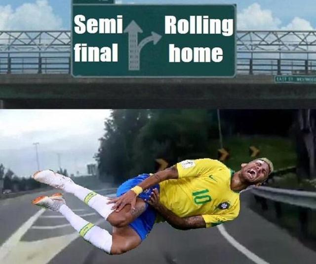 Thay vì lăn vào bán kết, Neymar đã rẽ về quê nhà.