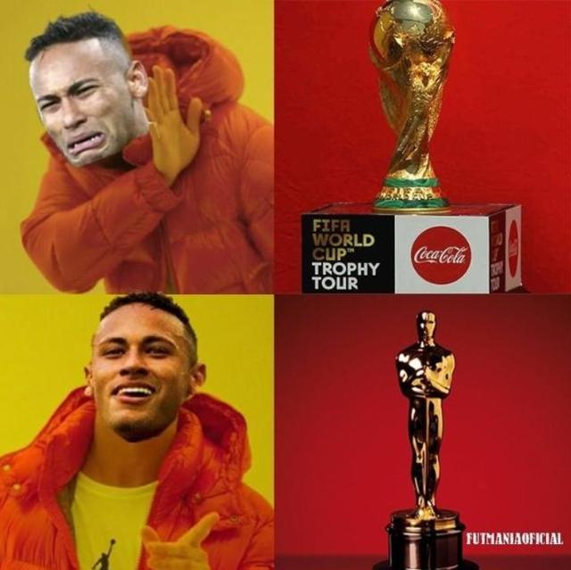 Xem ra giải thưởng Oscar phù hợp hơn với Neymar hơn là cúp vàng World Cup.