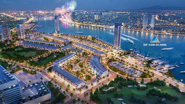 Phối cảnh dự án Marina Complex tại bờ Đông sông Hàn do Đất Xanh Đà Nẵng phân phối
