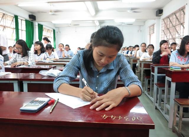 Thí sinh tham dự kỳ thi đánh giá năng lực do ĐH Quốc gia TPHCM tổ chức lần đầu tiên