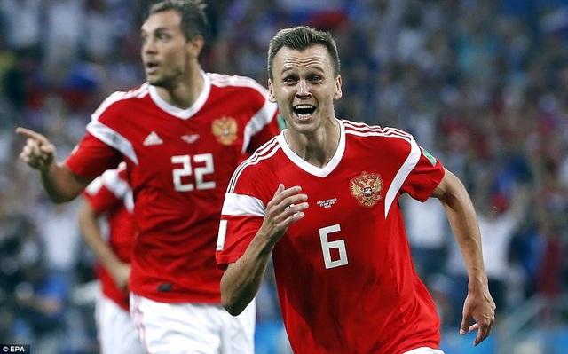 Cheyrshev mở tỷ số cho Nga ở phút 31...