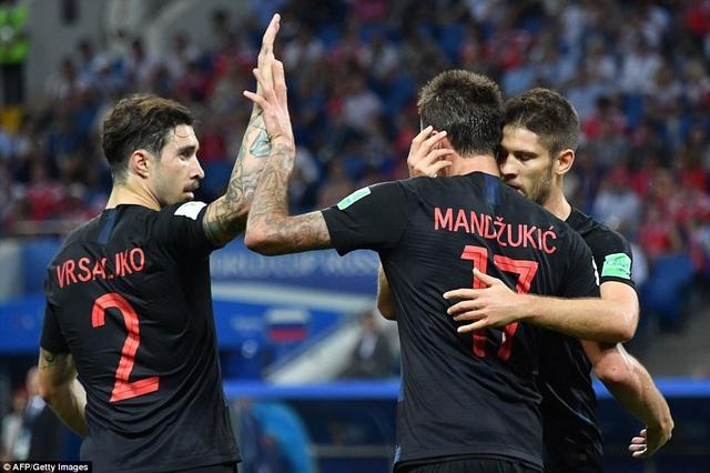 Croatia gỡ hòa 1-1 ở phút 39