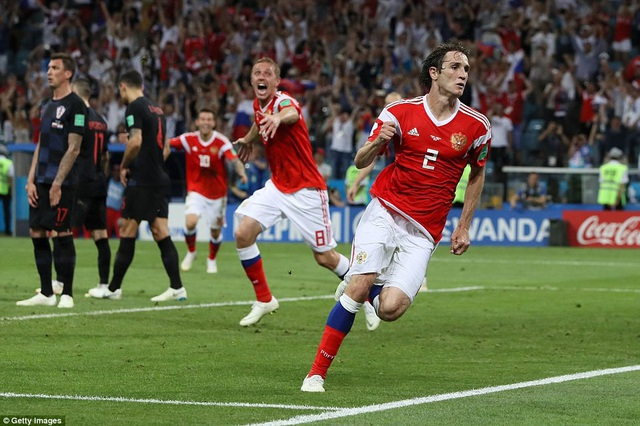Tuyển thủ Nga đã chơi kiên cường trong suốt trận đấu
