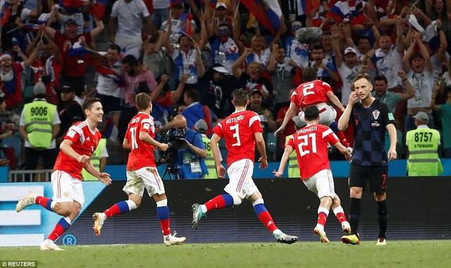 Nga đã gây bất ngờ với bàn gỡ hòa 2-2 ở phút 114 của Fernandes