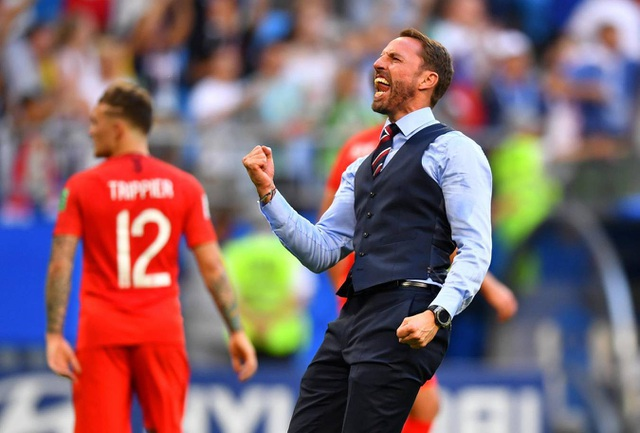 Sự phấn khích của HLV Southgate sau khi tuyển Anh tiến vào bán kết