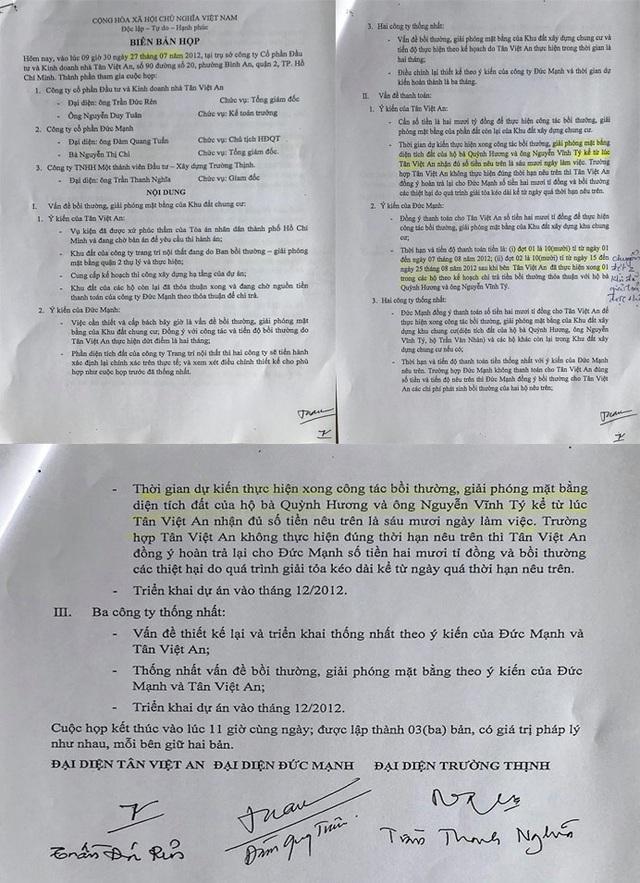 Nhiều nội dung trong biên bản 27/7/2012 không được nêu ra trong bản án của toà phúc thẩm.