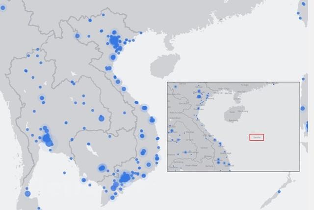 Facebook đã xoá tên Shansa (ảnh nhỏ) trên bản đồ Live