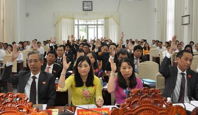 Đại biểu HĐND TP Cần Thơ biểu quyết về việc miễn nhiệm một số chức danh thuộc thẩm quyền HĐND TP tại kỳ họp ngày 9/7