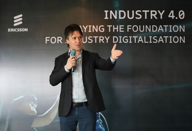 Ông Denis Brunetti, Chủ tịch Ericsson Việt Nam, Myanmar, Lào, Campuchia cho rằng 5G sẽ là đòn bẩy giúp Việt Nam tiến nhanh trong cuộc cách mạng 4.0.