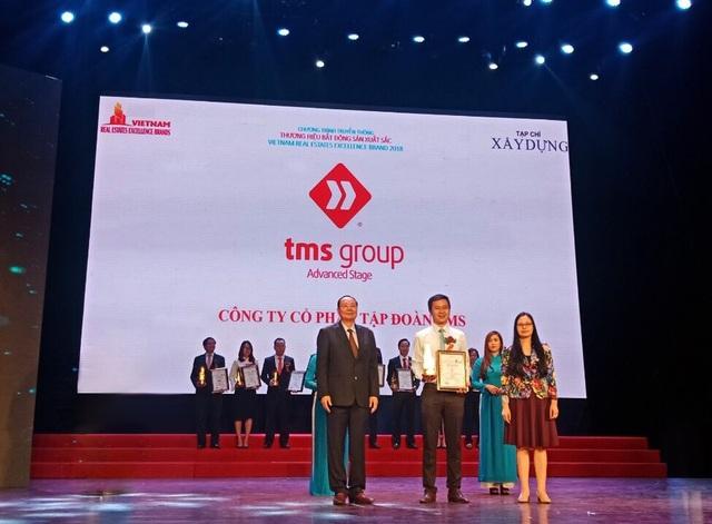 """Tập đoàn TMS được vinh danh Top 10 """"Nhà đầu tư và phát triển bất động sản xuất sắc 2018"""""""