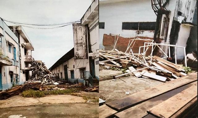 Nhà xưởng, tài sản của Cty Dệt Long An bị phá dỡ dù những tài sản này không bị kê biên.