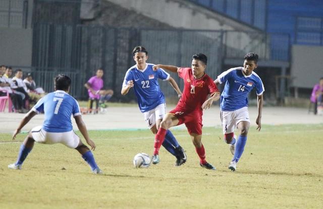 U19 Việt Nam không thể thắng Singapore