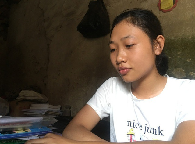 Em Nguyễn Thị Hoa, học sinh Trường THPT Yên Định 1, huyện Yên Định, Thanh Hóa.
