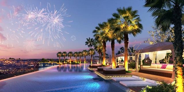 Hình ảnh bể bơi panorama tuyệt đẹp tại Sunshine City