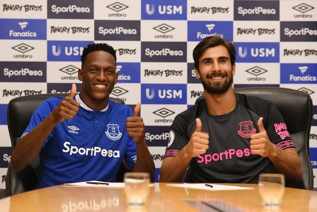 Yerry Mina và Andre Gomes ra mắt Everton