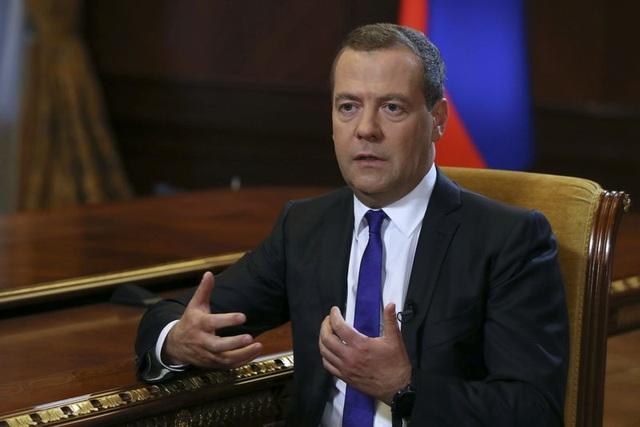 Thủ tướng Nga Dmitry Medvedev (Ảnh: Reuters)