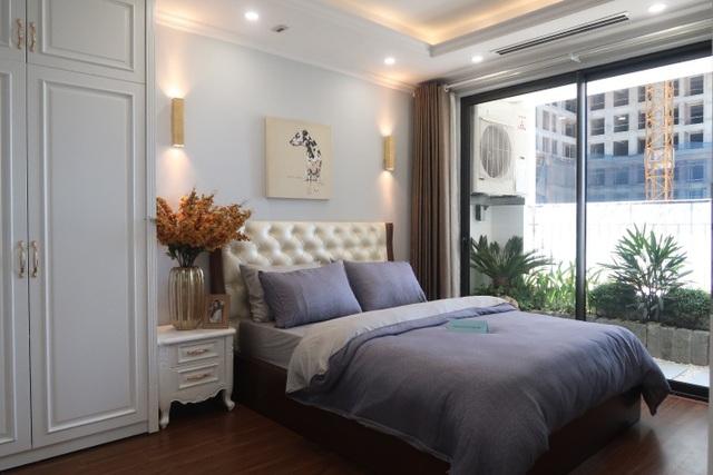 Phòng ngủ tại căn hộ mẫu dự án Sunshine Garden