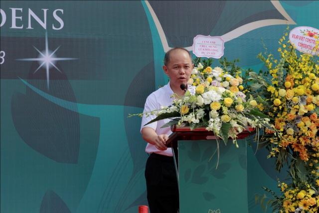 Ông Dennis Ng Teck Yow – Phó tổng giám đốc Gamuda Land Việt Nam phát biểu tại buổi lễ khởi công