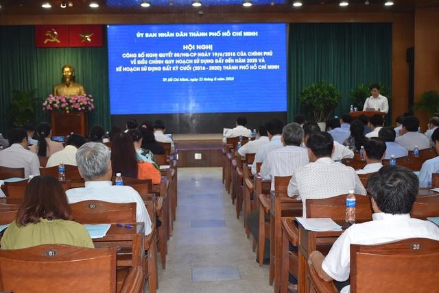 TPHCM công bố điều chỉnh quy hoạch sử dụng đất đến năm 2020