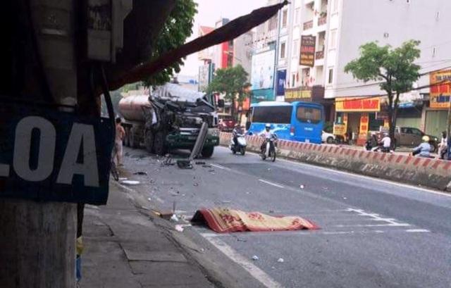 Hiện trường vụ tai nạn khiến 1 người phụ nữ tử vong