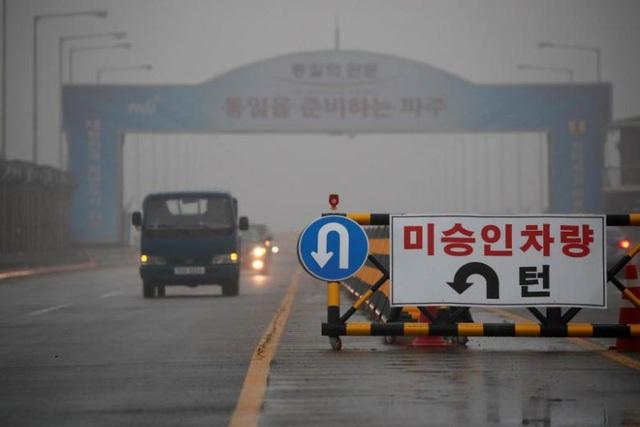 Cầu Thống Nhất ở Paju, tỉnh Gyeonggi, Hàn Quốc (Ảnh: Reuters)