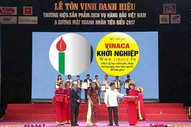 Công ty TNHH Vinaca sản xuất thuốc chống ung thư giả đạt Top 10 thương hiệu hàng đầu Việt Nam trong chương trình do Viện Công nghệ chống làm giả và Trung tâm tư vấn hỗ trợ doanh nghiệp và phát triển thương hiệu tổ chức.