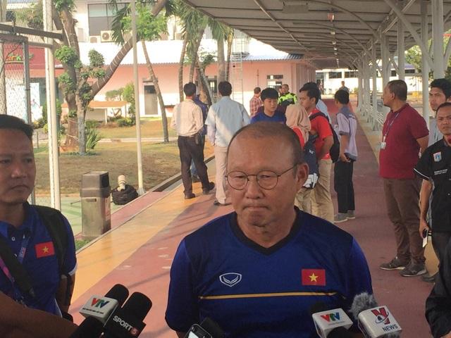 HLV Park Hang Seo không hài lòng với nước chủ nhà Indonesia với Olympic Việt Nam