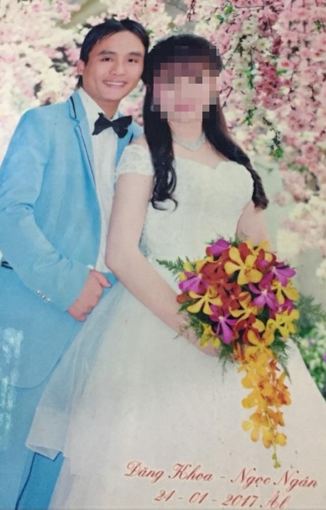 Vợ chồng Nguyễn Đăng Khoa và chị Ngân lúc đám cưới