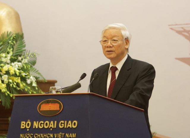 Tổng Bí thư Nguyễn Phú Trọng chỉ đạo tại Hội nghị Ngoại giao lần thứ 30 (ảnh: Hữu Nghị)