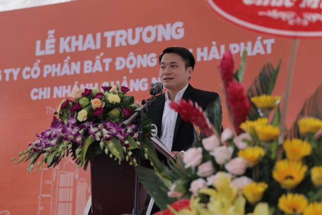 Ông Nguyễn Thắng - Giám đốc chi nhánh Hải Phát Land tại Quảng Ninh phát biểu tại Lễ khai trương